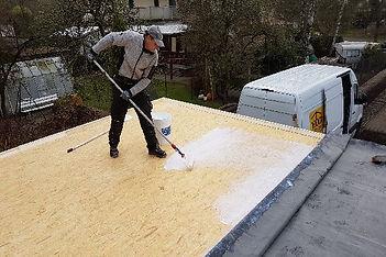 Verarbeiten von Dachprotekt EPDM Dachbahn
