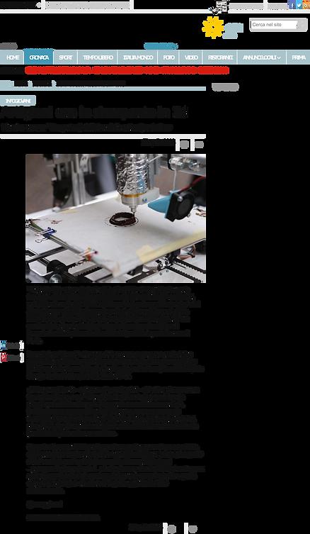 artigiani con la stampante 3d La Provinc