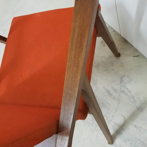 Dettaglio del restauro del legno
