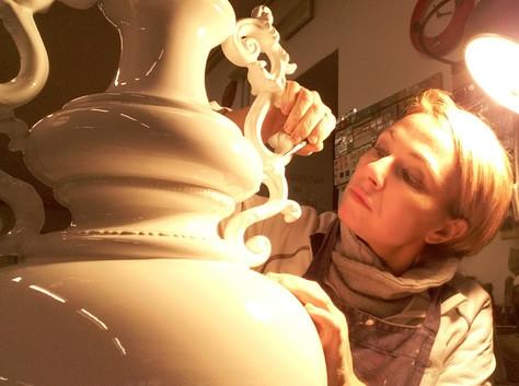 Restauro vaso in ceramica