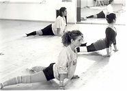 Marta Miranda durante una sua lezione di danza contemporanea
