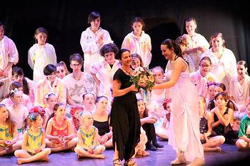 Marta Miranda dopo un suo spettacolo di danza modern