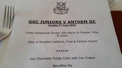 Lunch Menu at Gullane GC