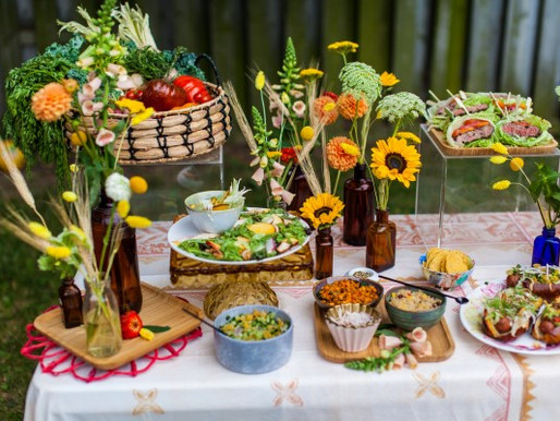 Setting Up a Whimsical BBQ Buffet