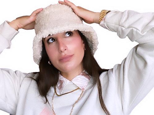KIMT Bucket Hat in Cream