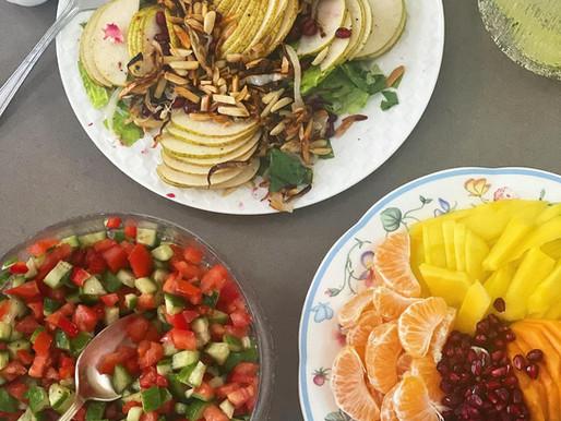 My Mom's Asian Pear + Radicchio Salad