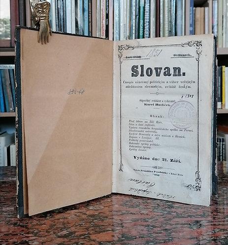 Slovan. 1851. Časopis věnovaný politickým a vůbec veřejným záležitostem