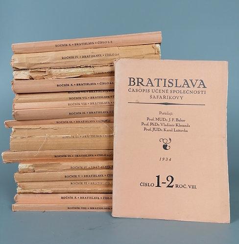 Barbor J. F., Bratislava, časopis pro výzkum Slovenska a Podkarpatské Rusi, 18ks