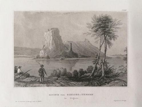 Devín / Ruine vo nSchloss- Theben in Ungarn