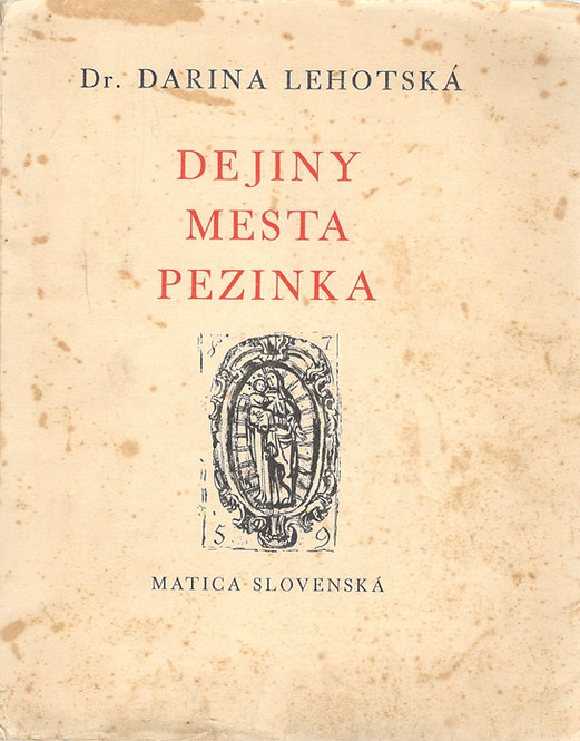 Lehotská Darina, Dejiny mesta Pezinka