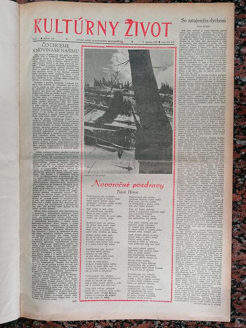 Kultúrny život, ročník XII., 1957