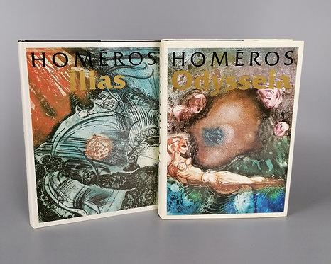 Homéros, Ílias a Odysseia / 2 zväzky