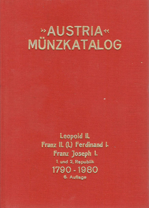 >Austria< Münzkatalog 1790 - 1980
