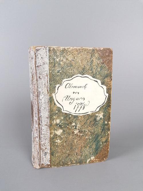 Korabinsky Johann Matthias, Almanach von Ungarn auf das Jahr 1778
