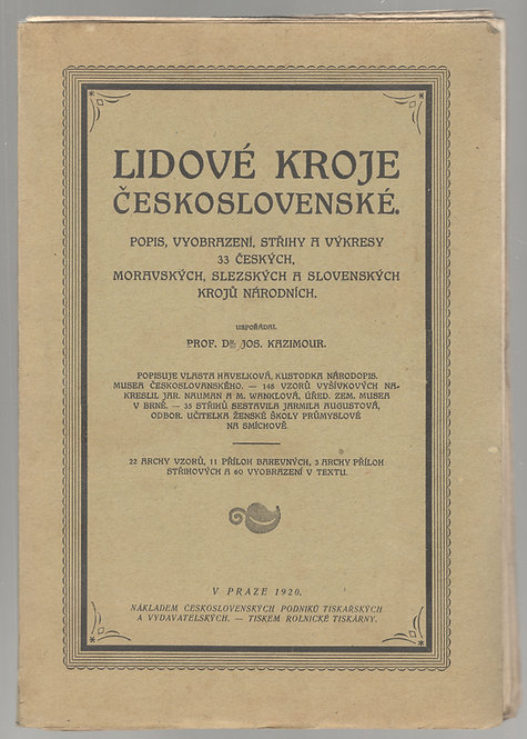 Kazimour Jos., Lidové kroje Československé