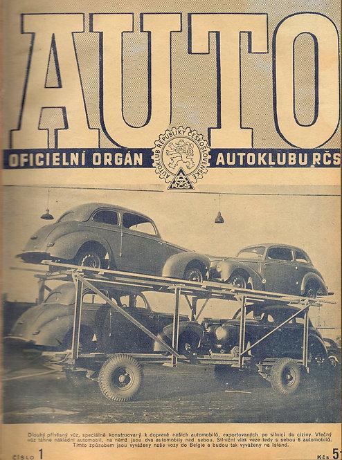 AUTO, Oficielní orgán AKRČs a revue všech motoristů, Ročník XXIX 1947, č. 1-12