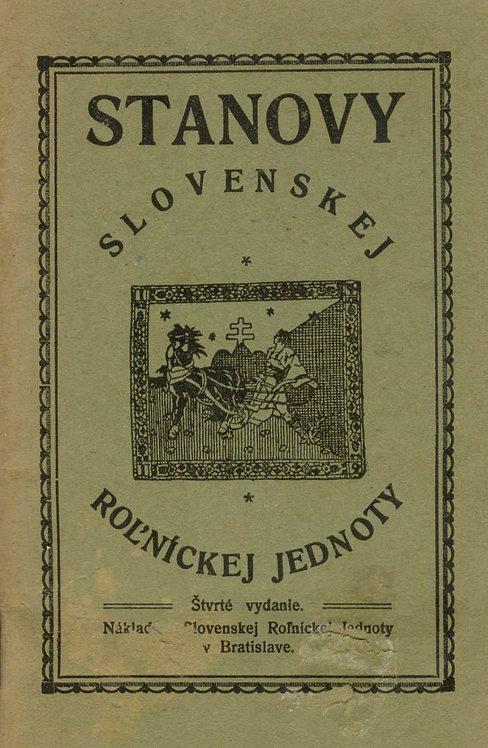Stanovy Slovenskej Roľníckej Jednoty