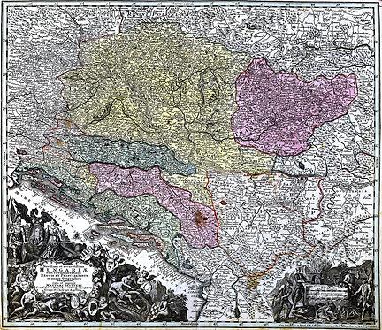Seutter, Matthäus (1678-1757): Novissima et accuratissima Hungariae