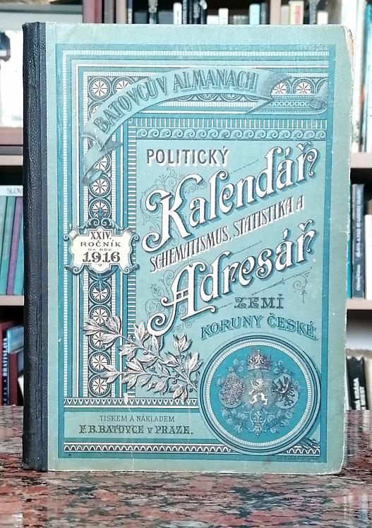 Batovcův almanach : politický kalendář a adresář na rok 1916