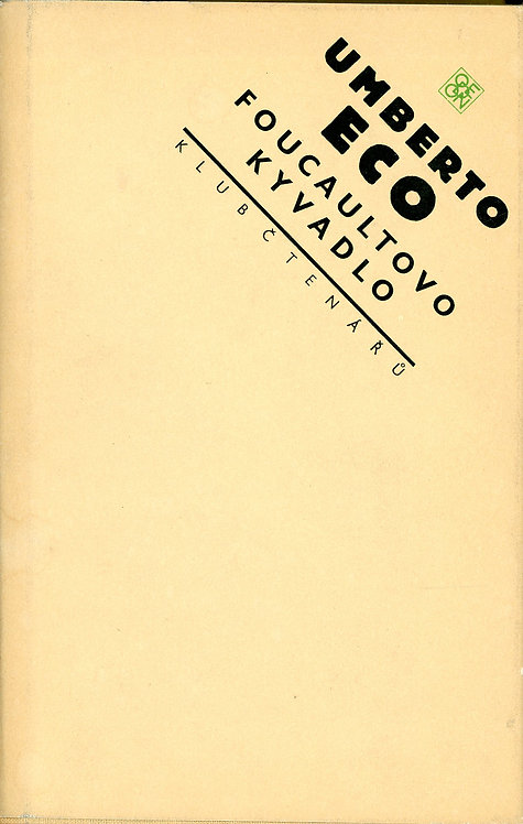 Eco Umberto, Foucaultovo kyvadlo