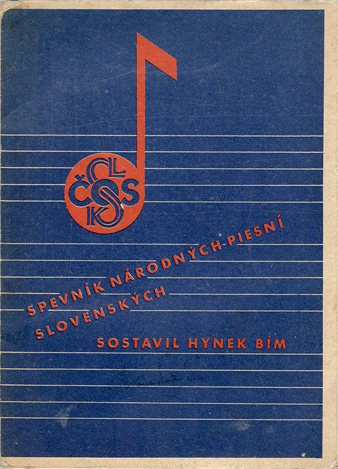 Bím Hynek, Spevník národných piesní slovenských