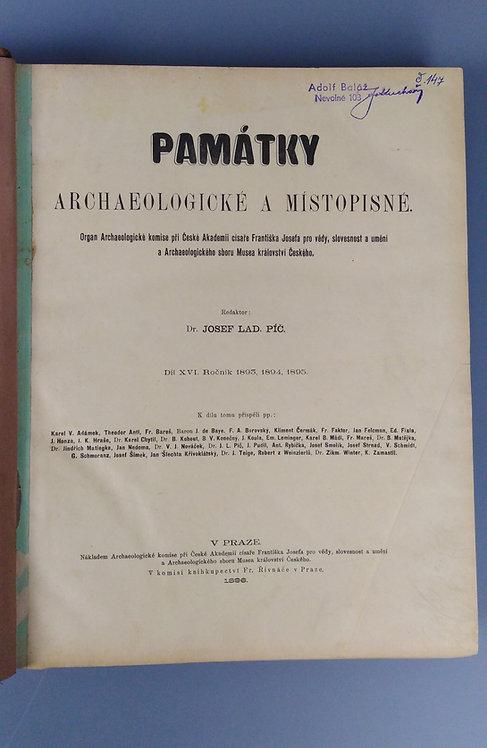 Památky archeologické a místopisné, díl XVI., 1893, 1894, 1895