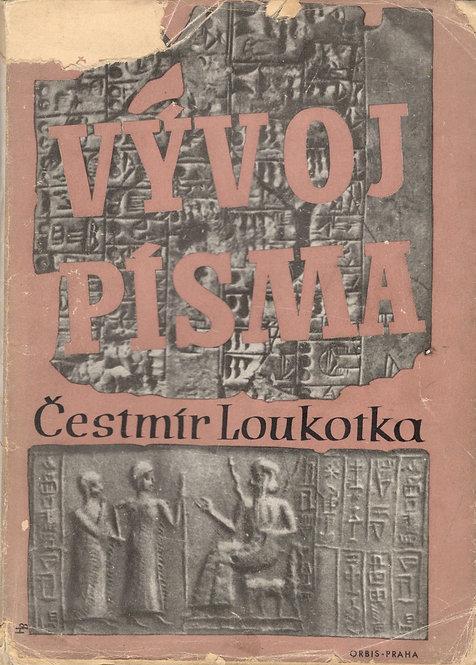 Loukotka Čestmír, Vývoj písma