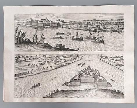 Pohľad na pevnosť Komárno 1595