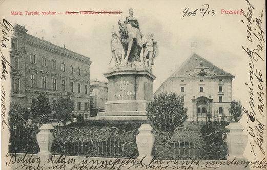 Pohľadnica Pozsony / Bratislava, Pamätník Márie Terézie
