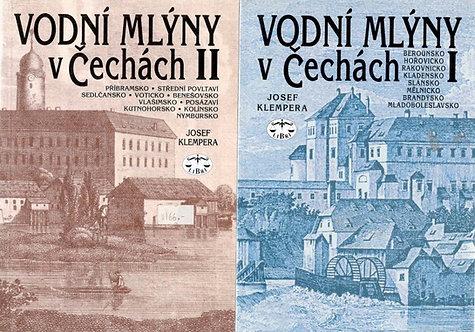 Klempera Josef, Vodní mlýny v Čechách I. - II.