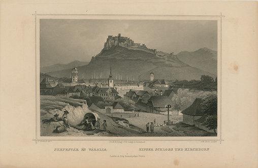 grafika Spišský hrad, Spišské podhradie
