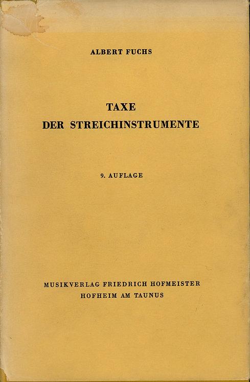 Albert Fuchs, Taxe der Streichinstrumente, 9. Auflage