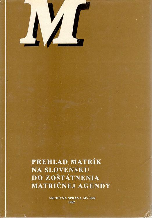 Kalesná Jana, Prehľad matrík na Slovensku do zoštátnenia matričnej agendy