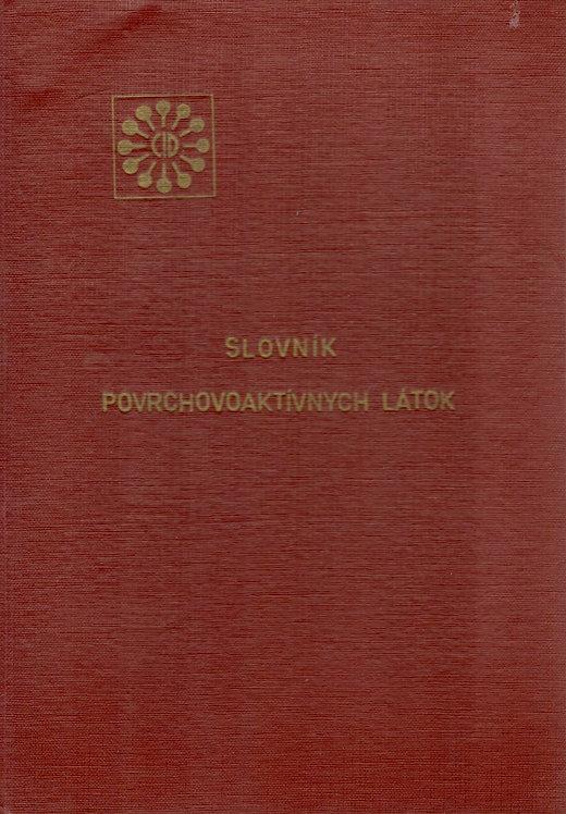 Kňažko L. - Novák L. - Matejeková V., Slovník povrchovoaktívnych látok