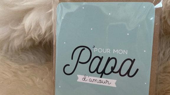 Carte Papa d'amour
