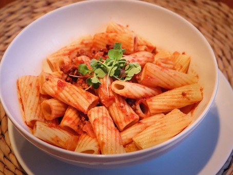 Rotini with Bolognese