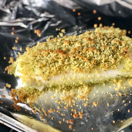 Herb Crusted Codfish