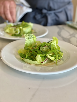 Salad of Local Lettuces with Cashew Dres