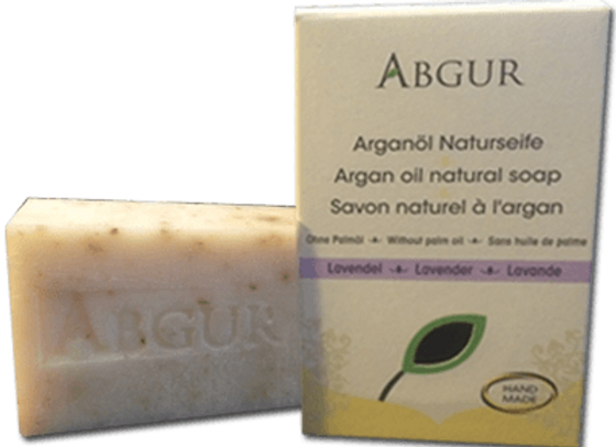 Abgur Hand-made Organic Argan Oil Natural Soap 'Lavender'