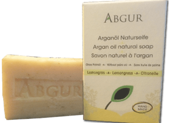 Abgur Hand-made Organic Argan Oil Natural Soap 'Lemongrass'
