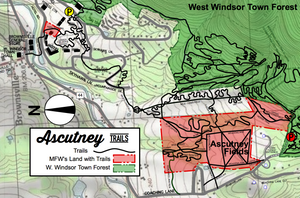 Map of closed trails