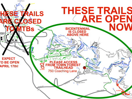 Some MTB Trails Open!