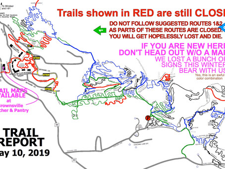 Ascutney Trails (mostly) OPEN!