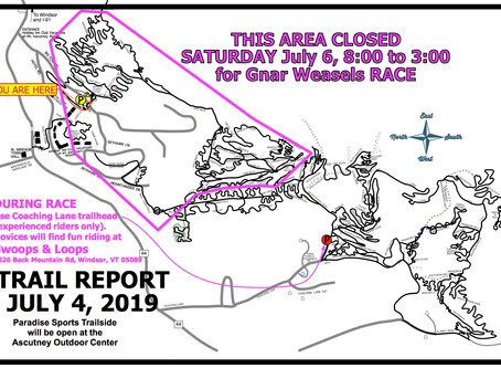 Some Ascutney Trails Closed 7/6