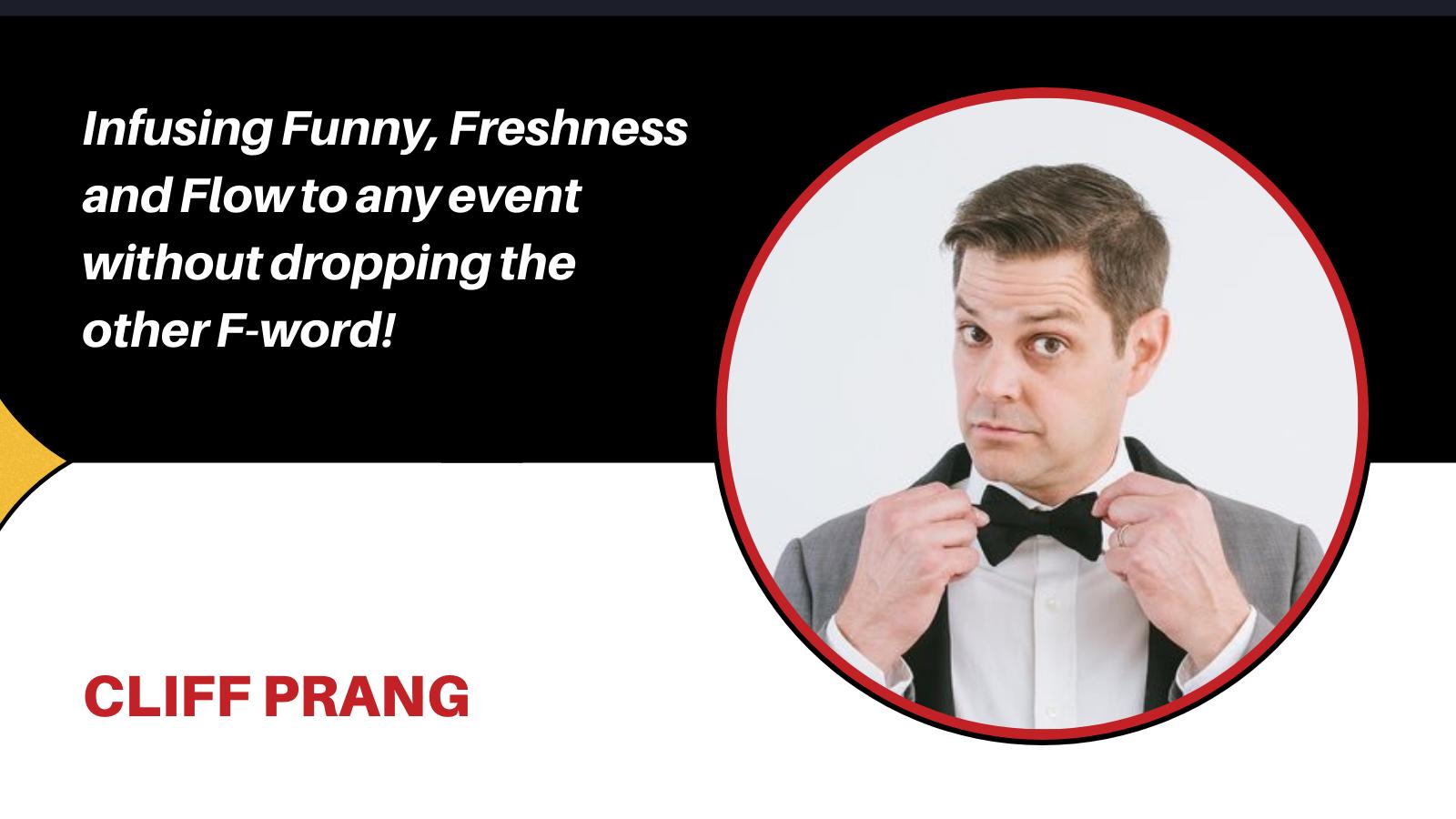 comedian Cliff Prang