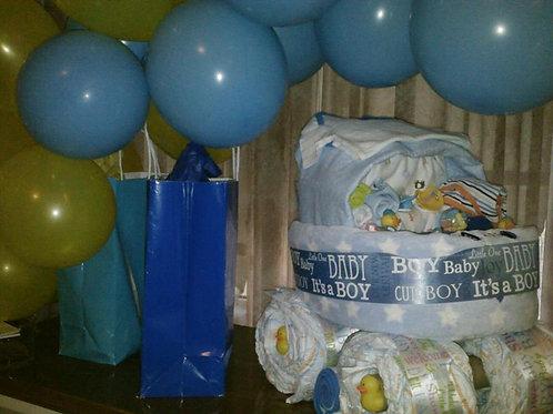 Diaper Cake - Blue