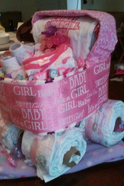 Diaper Cake- Pink