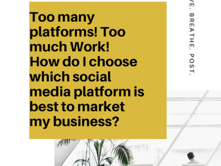 Too many social media platforms! Too much work!