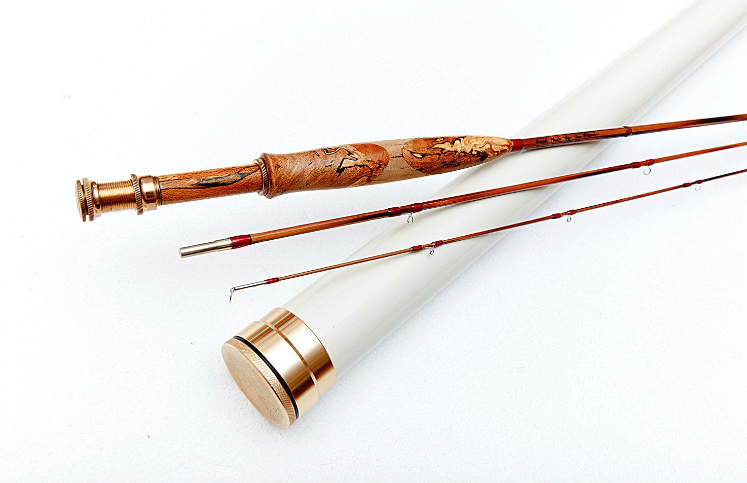 Fly fishing bespoke split cane rod by Tom Regula. Christmas gift for him. Christmas gift for her.