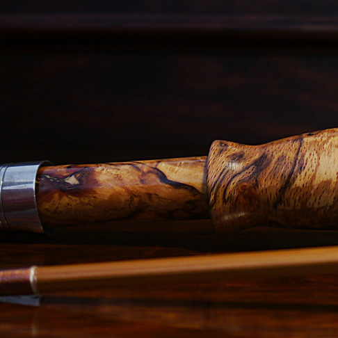 Nature Painting. Split Cane Fly Rod Handle by Tom Regula Rods.